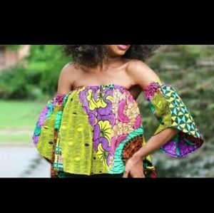 African Ankara Off shoulder Blouse/ Ethnic Blouse